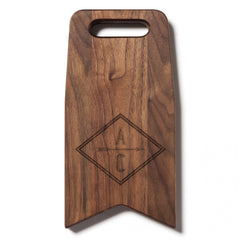Monogram With An Arrow: 12x6 Cutting Board