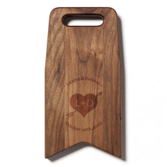 Engraved With A Heart and Arrow: 6x12 Cutting Board