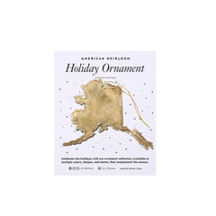 Alaska Holiday Ornament