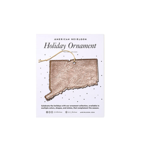 Connecticut Holiday Ornament by AHeirloom