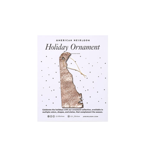 Delaware Holiday Ornament by AHeirloom