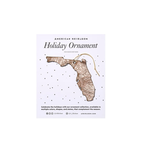 Florida Holiday Ornament by AHeirloom
