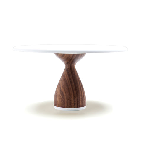 Hardwood Walnut Cake Stand: Thick Base by AHeirloom