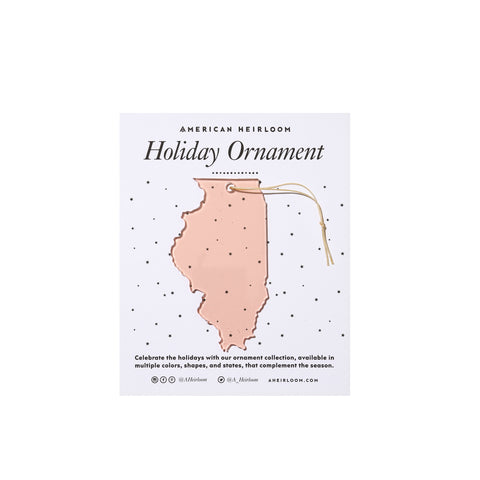 Illinois Holiday Ornament by AHeirloom