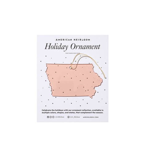 Iowa Holiday Ornament by AHeirloom