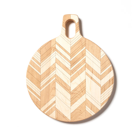 Herringbone : 11-inch Round Cutting Board by AHeirloom
