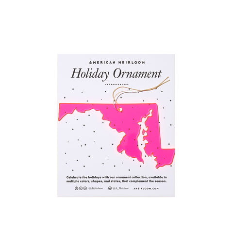 Maryland Holiday Ornament by AHeirloom