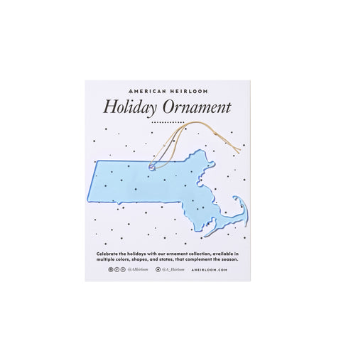 Massachusetts Holiday Ornament by AHeirloom