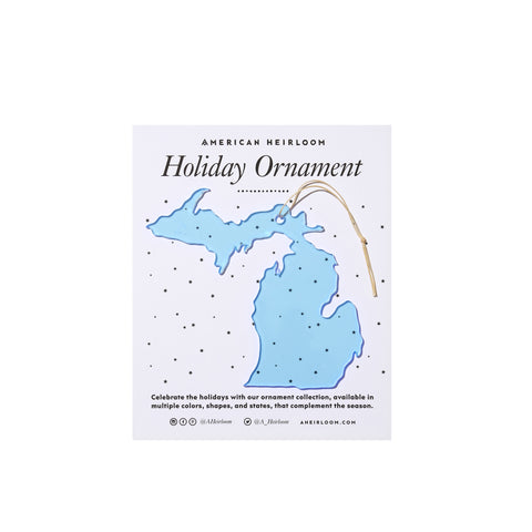 Michigan Holiday Ornament by AHeirloom
