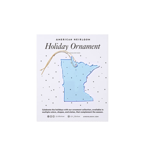 Minnesota Holiday Ornament by AHeirloom