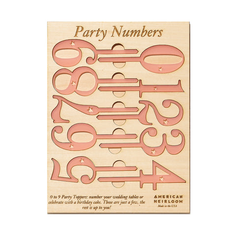 Pink Number Cake Toppers by AHeirloom