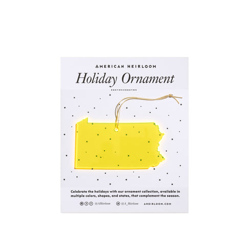Pennsylvania Holiday Ornament by AHeirloom
