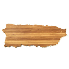 Puerto Rico Shaped Cutting Board