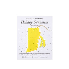 Rhode Island Holiday Ornament
