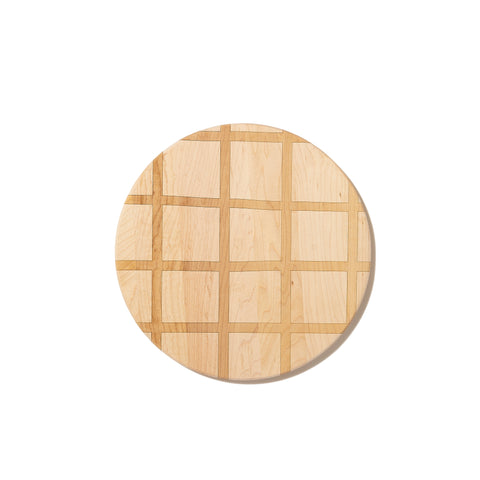 Walnut and Maple Grid Pattern Cutting Board by AHeirloom