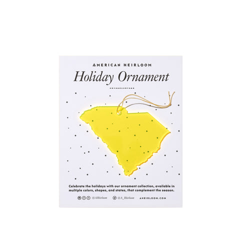 South Carolina Holiday Ornament by AHeirloom