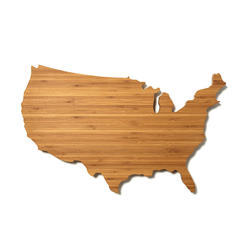 USA Shaped Cutting Board by AHeirloom