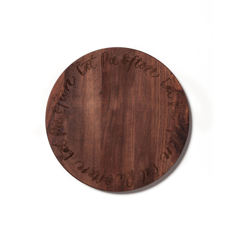 Pie Plate with Edge Text by AHeirloom