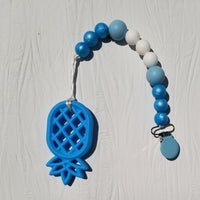 Silicone Teething Pacifier Clip & Pineapple Teether