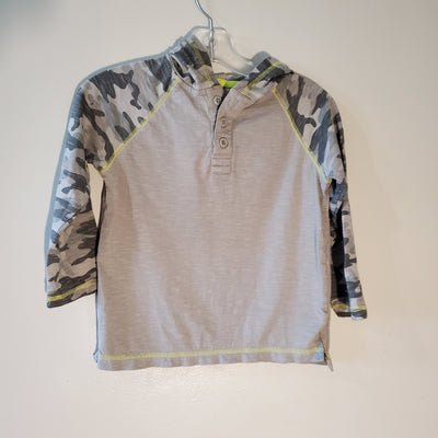 Gymbo Hooded Top Light, Grey, size 4