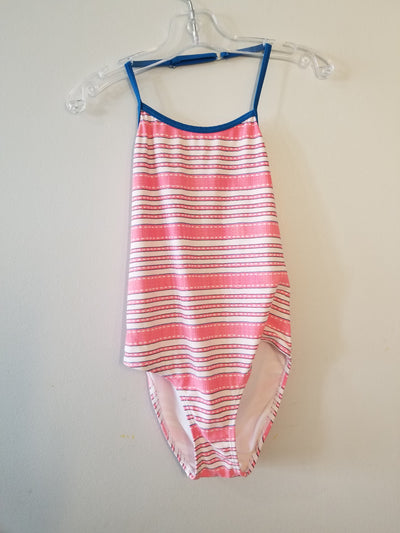 Swim Suit Joe Stripe, Pink, size 7