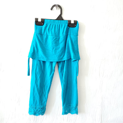 OM Skirt/leggings, Blue, size 4-6