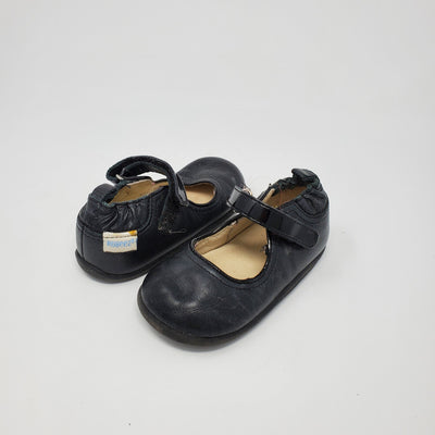 Robeez Leather Shoe, Black, size 12m-18m