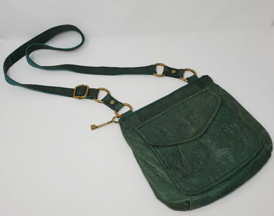 Fossil Cross Body Purse, Green, size Med