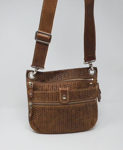 Roots Cross Body Purse, Brown