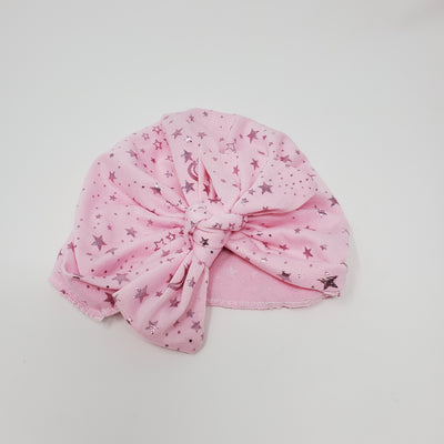 Knotted Turban Hatstars, Pink, size 0-12m
