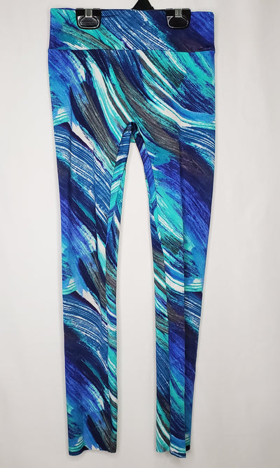 K Deer Printed Legging, Blue, size 10/12