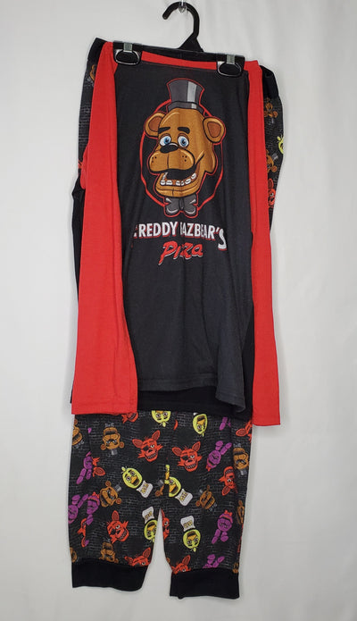 5 Nights At Freddys PJ, Blk/red, size 10/12