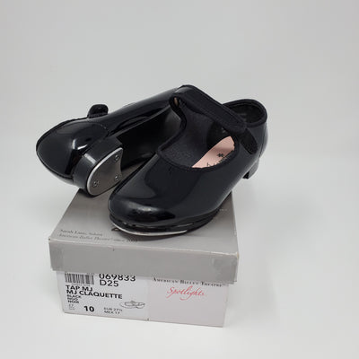 Spotlight Tap MJ Shoe, Black, size 10