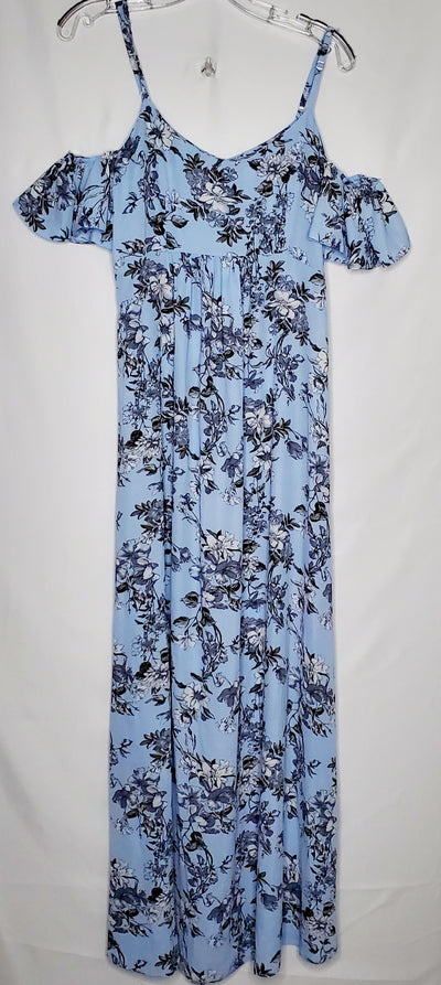 Queen Bee Maxi Dress, Blue, size Small
