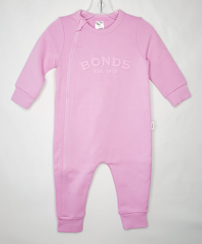 Tech Sweat Zip Wondersuit, Pink, size 3