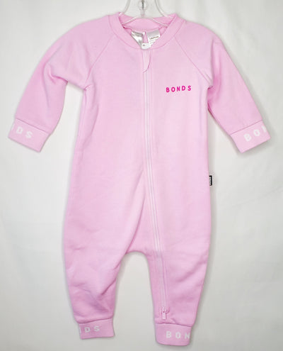 Logo Fleece Wondersuit Zi, Pink, size 12m-18m