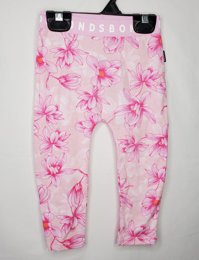 Leggings Floral New, Pink, size 12m-18m