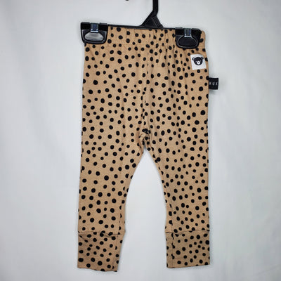 HUXBABY Leggings Polka, Brown, size 6m-12m