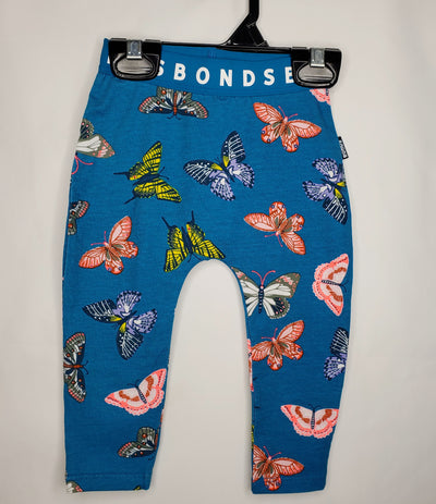 BONDS Leggings Butterfly, Blue, size 12m-18m