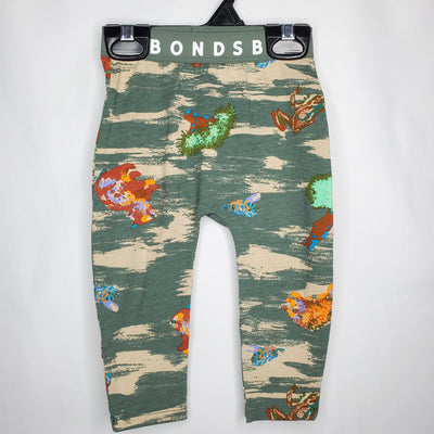 BONDS Leggings Critter, Green, size 0-3m