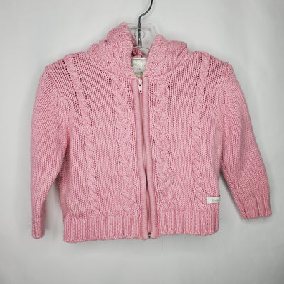Roots Zip Cardigan, Pink, size 12-18m