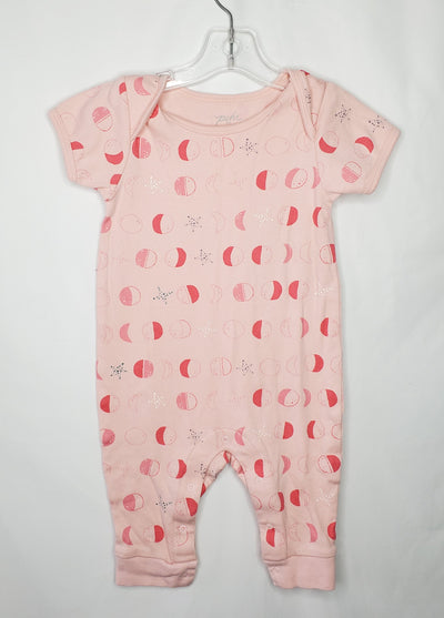 Pehr Romper Moons, Pink, size 12m-18m