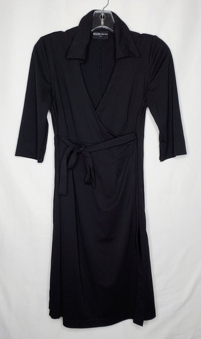 Wrap Dress Thyme, Black, size Small
