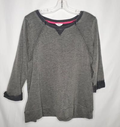 Thyme Sweat Top, Charcoal, size XLarge