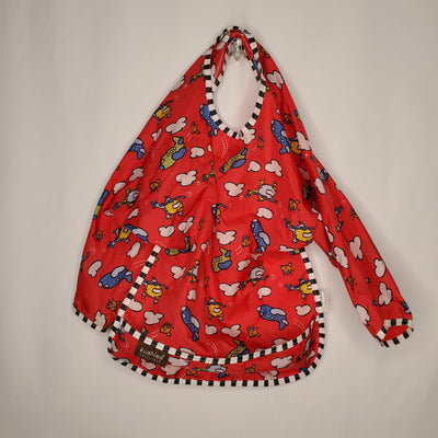 Sleeved Bib Kushies, Red, size OS