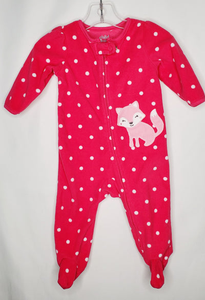 Carters Sleeper Fleece Do, Pink, size 3-6m