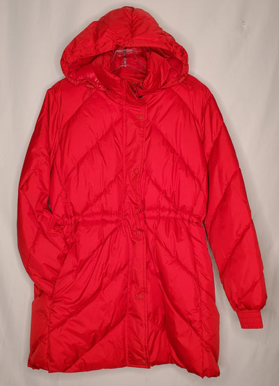 Gap Long Puffer Coat, Red, size Large