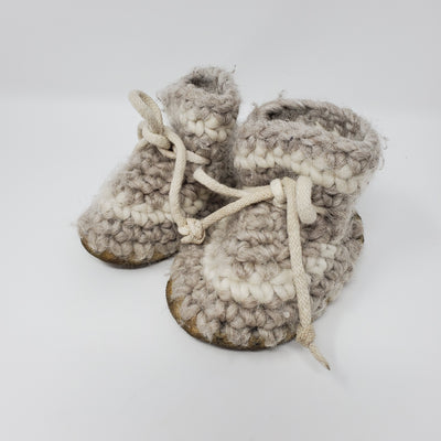 Padraig Wool Slipper, Cream, size 6-12m