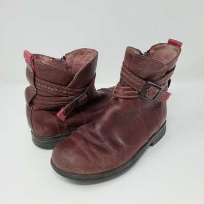 Camper Leather Boot, Burg, size 12