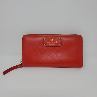 Kate Spade Wallet, Red, size NEW